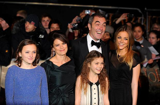 James Nesbitt and family arriving for the UK Premiere of The Hobbit: An Unexpected Journey at the Odeon Leicester Square, London