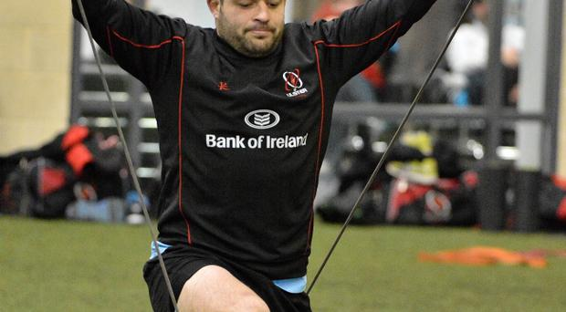 Rory Best exercises to improve his upper body strength