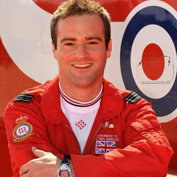 Flight Lieutenant Jon Egging was killed when his Hawk T1 aircraft came down near Bournemouth Airport in Dorset before an air show (MoD/PA)
