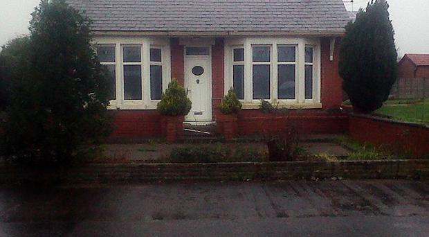 A man and three children died after a blaze in this bungalow in Lytham Road, Freckleton in Lancashire