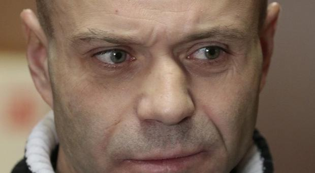 Dmitry Pavlyuchenkov at court in Moscow (AP)