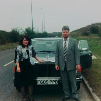 William and Mary Connors in front of their 1988 Rolls Royce (Gloucestershire Police/PA)