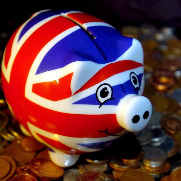 The survey found Britons saved an average of 90 pounds of their monthly income, up from 87 pounds in July