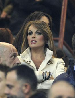 Francesca Pascale attends the Serie A match between AC Milan and Juventus FC at San Siro Stadium on November 25, 2012 in Milan, Italy. (Photo by Claudio Villa/Getty Images)