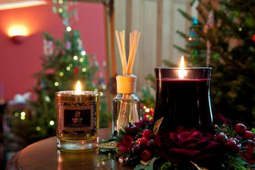 Undated Handout Photo of Victorian Winter Amber Noir jar, RRP £8; Diffuser, RRP £10 and Winter Fig hurricane, RRP £15, www.shearer-candles.com. See PA Feature INTERIORS Home Scent. Picture credit should read: PA Photo/Handout. WARNING: This picture must only be used to accompany PA Feature INTERIORS Home Scent.