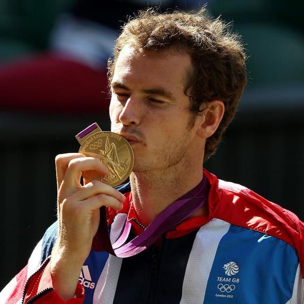 Andy Murray won tennis gold at the 2012 Olympics, which was held at Wimbledon's grass courts