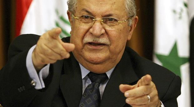 Iraq's President Jalal Talabani is being treated in Germany after suffering a stroke (AP)