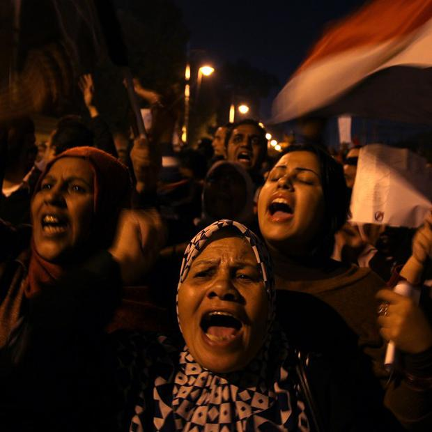 The prosecutor general was accused of pressuring a judge not to release anti-Morsi protesters (AP)