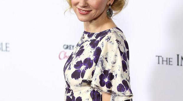 Naomi Watts said the attention over her role as Princess Diana can be a bit scary