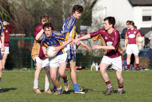 St Brigid's U18 team in action against Bredagh