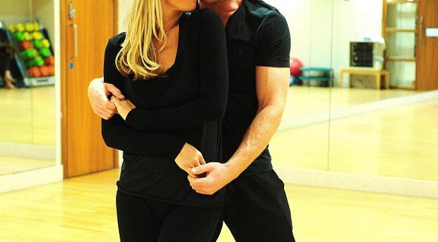 Denise Van Outen and James Jordan are trying to be less aggressive about the competition