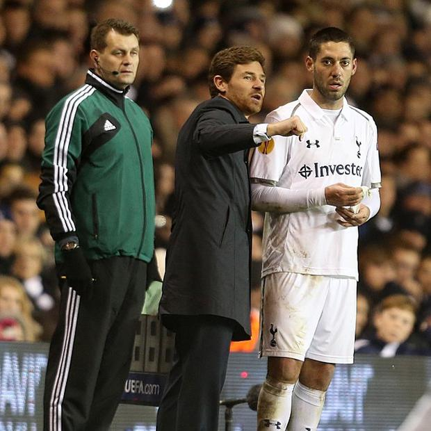 Andre Villas-Boas, centre, does not expect to add to his squad during the January transfer window