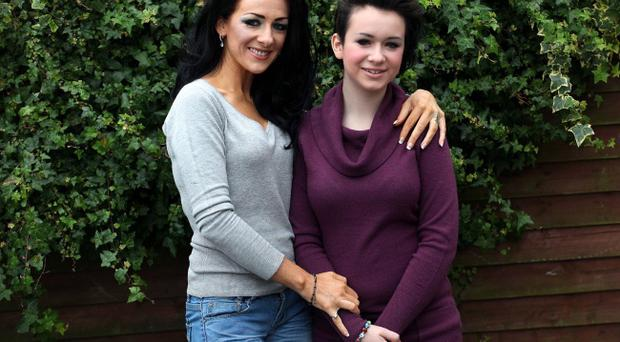 Rachel Johnston, pictured with her 13-year-old daughter Honour who won a battle against a rare form of childhood ovarian cancer, said her daughter's recovery had been helped immensely through involvement in backing the CLIC Sargent Homes From Home Appeal