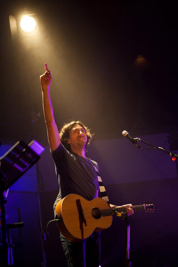 Snow Patrol's Gary Lightbody performs at the Waterfront Hall