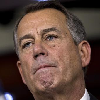 John Boehner speaks about the fiscal cliff negotiations at the Capitol in Washington (AP/J Scott Applewhite)