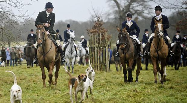 A number of hunts have taken place across Britain on Boxing Day
