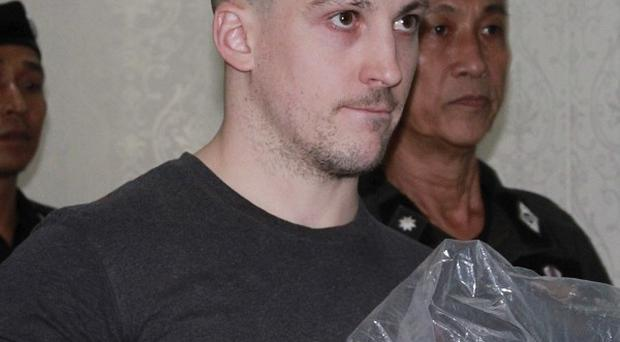 Lee Aldhouse was extradited to Thailand in December after being accused of murdering a fellow kickboxer in Phuket (AP)