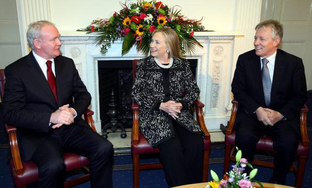 Iron lady: US Secretary of State Hillary Clinton in Belfast earlier this month