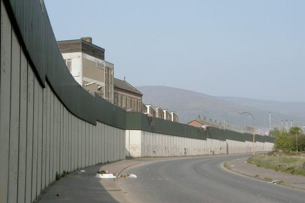Belfast peaceline reflects extent of division across Northern Ireland