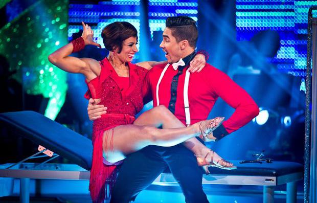 Strictly champions: Flavia Cacace and Louis Smith perform in Saturday's final