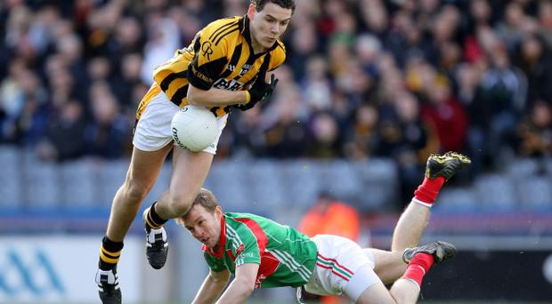 Aaron Cunningham (left) has his sights on Crossmaglen's All-Ireland club championship semi-final as he recovers from knee surgery