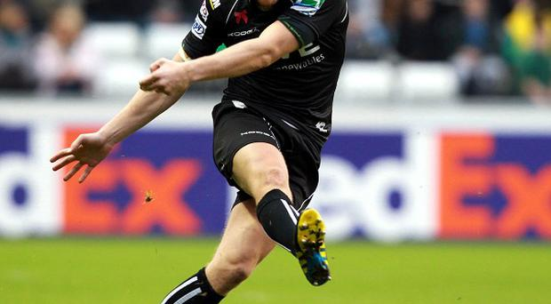 Dan Biggar booted 14 points in Ospreys' victory
