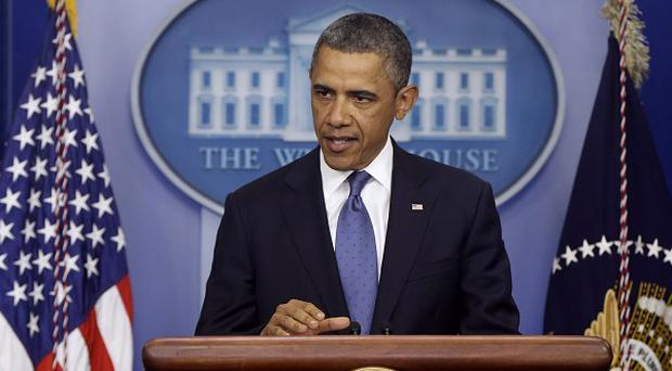 US President Barack Obama speaks after meeting Congressional leaders regarding the fiscal cliff (AP)
