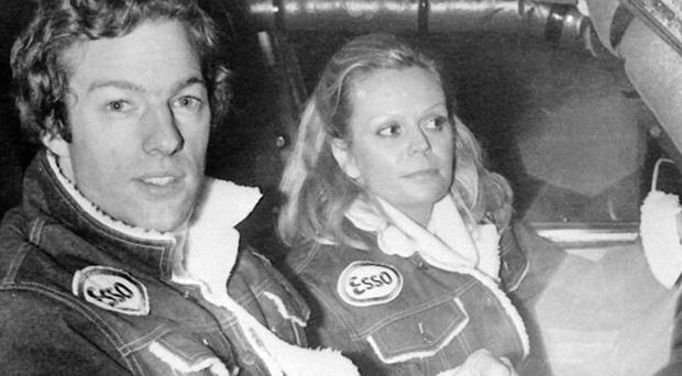 Mark Thatcher and his co-driver Anne-Charlotte Verney during the 1982 Paris to Dakar car rally
