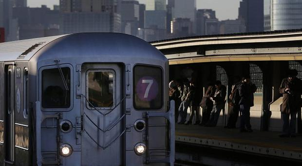 The 40th St Lowry Sreett Station, where a man died after he was pushed on to the subway tracks (AP)