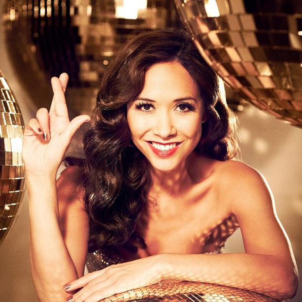 Myleene Klass promoting the special EuroMillions Millionaire Raffle draw on New Year's Day