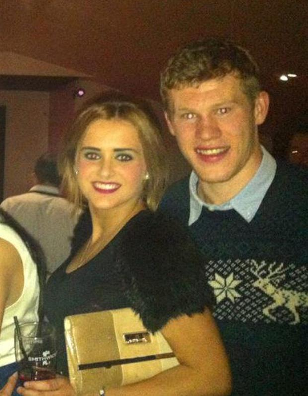 James McClean with his girlfriend Erin Connor.