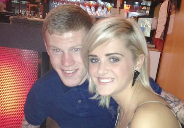 Sunderland's James McClean with his girlfriend Erin Connor. Image from Erin Connor's twiiter profile picture