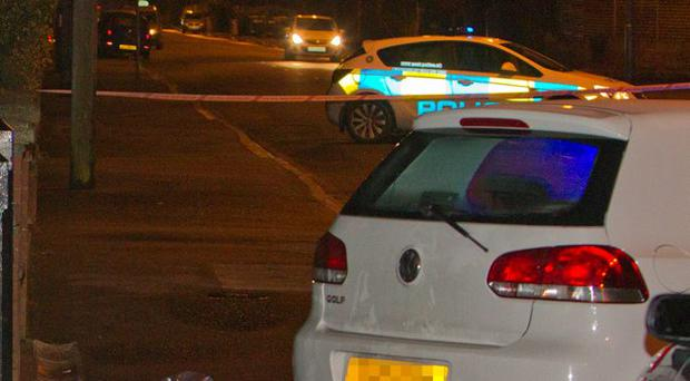 Scene of the accident in which a baby's buggy was struck by a car on the Comber Road, Dundonald