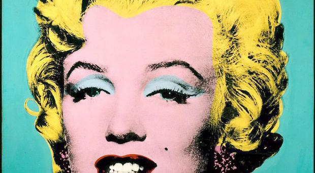 Andy Warhol's painting of Hollywood legend Marilyn Monroe