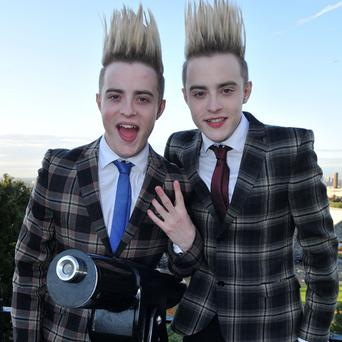 Jedward twins John and Edward Grimes were rescued from a sandbank