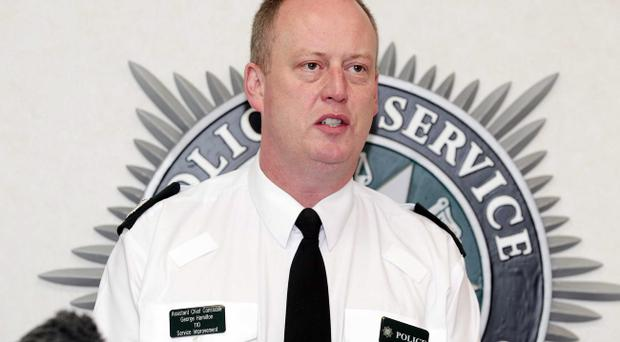 Presseye. Assistant Chief Constable George Hamilton holds press conference at PSNI headquarters Knock