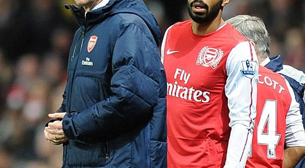 Arsene Wenger, left, confirmed Thierry Henry, right, will not make an Emirates return