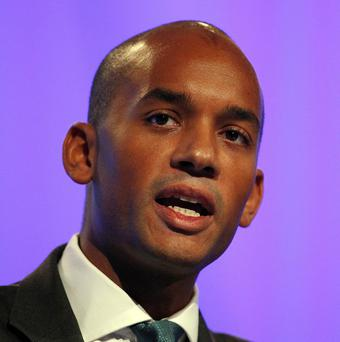 Chuka Umunna said there was a lack of visible black role models in British film and television to inspire young people.