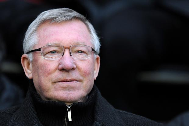 WIGAN, ENGLAND - JANUARY 01: Manchester United manager Sir Alex Ferguson looks on during the Barclays Premier League match between Wigan Athletic and Manchester United at DW Stadium on January 1, 2013 in Wigan, England. (Photo by Chris Brunskill/Getty Images)