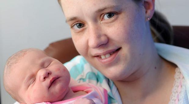 Demi Somerville from Bangor with her mother Cheryl at the Ulster Hospital in Dundonald