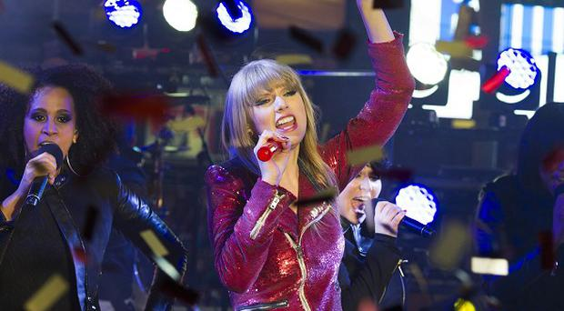 Taylor Swift performed in Times Square during New Year's Eve celebrations