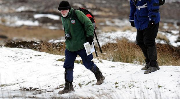 Hikers are being urged not to walk on cliff paths alone