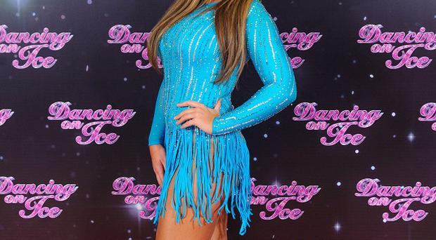 Lauren Goodger joked about wearing her Dancing On Ice outfit on a night out in Essex