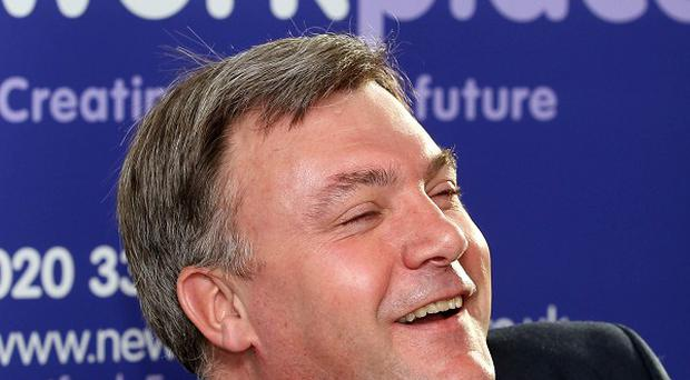 Shadow Chancellor Ed Balls during a visit to Workplace in Stratford, east London