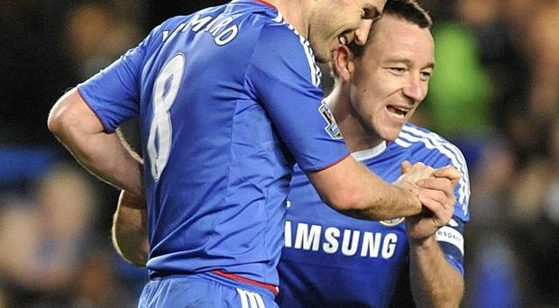 John Terry, right, has hailed Chelsea team-mate Frank Lampard, left, as a 'legend'