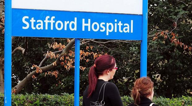 Stafford General Hospital after a damning report over an abnormal amount of deaths at the hospital
