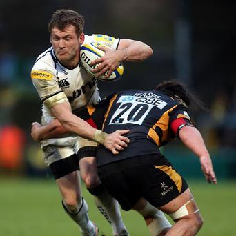 Mark Cueto, left, needs one Premiership try to break the all-time career record of 75