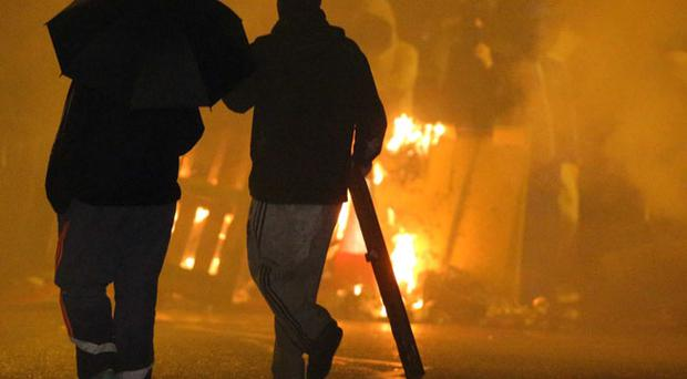 Riots on the lower Newtownards Road January 7 2013