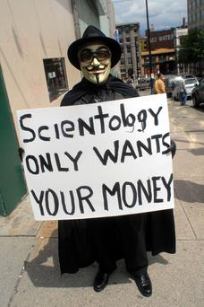 Scientology protest, Vancouver, Canada