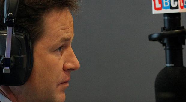 Nick Clegg will host a phone-in on LBC radio